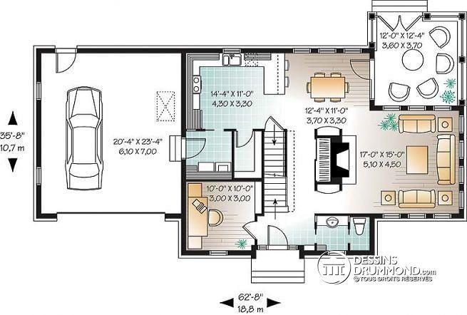 plan de maison americaine sofag. Black Bedroom Furniture Sets. Home Design Ideas