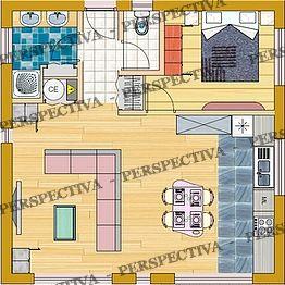 plan de maison de 40m2 sofag. Black Bedroom Furniture Sets. Home Design Ideas