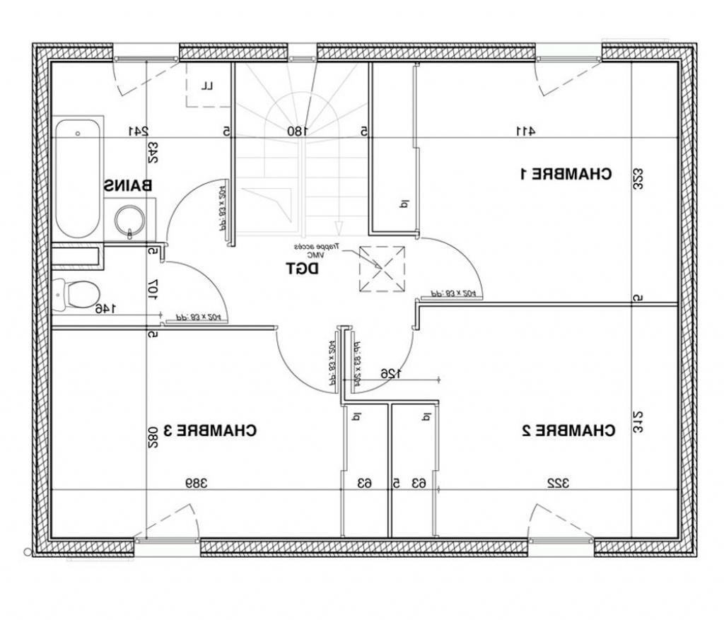 Plan maison contemporaine plain pied sofag - Plan maison 120m2 4 chambres ...