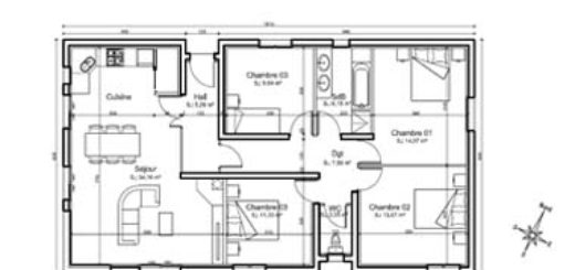 Affordable Plan Maison Pices With Plan Maison 70m2 Plein Pied