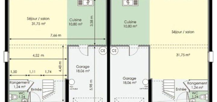 plan maison double habitation sofag. Black Bedroom Furniture Sets. Home Design Ideas