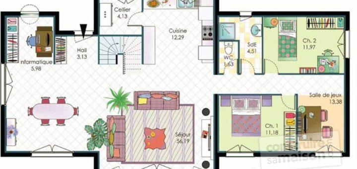 jeux de plan de maison sofag. Black Bedroom Furniture Sets. Home Design Ideas