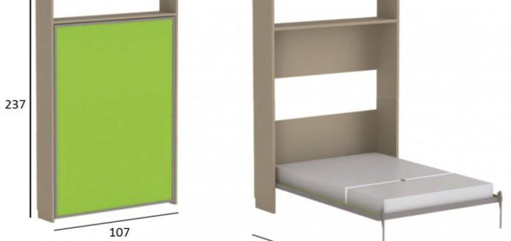 lit repliable sur mur sofag. Black Bedroom Furniture Sets. Home Design Ideas