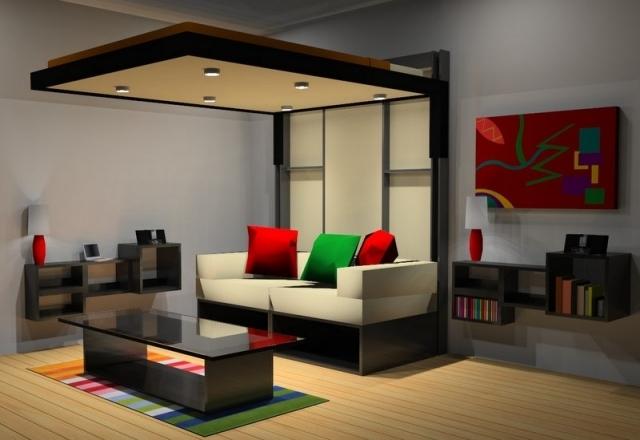 Lit escamotable plafond ikea sofag - Prix canape lit ikea ...