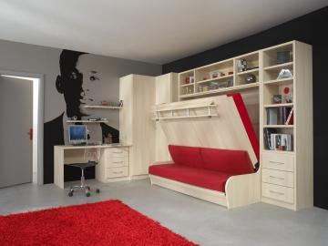 lit int gr dans le mur sofag. Black Bedroom Furniture Sets. Home Design Ideas