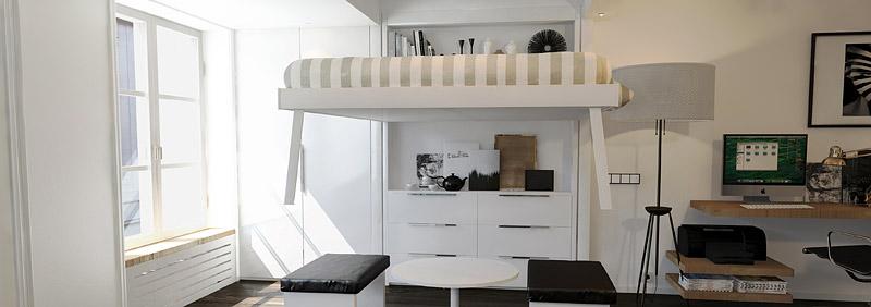 Lit escamotable electrique plafond sofag - Lit armoire escamotable electrique ...