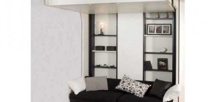 lit cach dans un meuble sofag. Black Bedroom Furniture Sets. Home Design Ideas