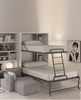 lit escamotable superpose pour studio sofag. Black Bedroom Furniture Sets. Home Design Ideas