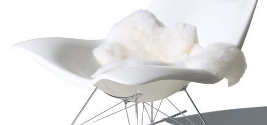 Chaises scandinaves tissu gris sofag for Chaise a bascule scandinave