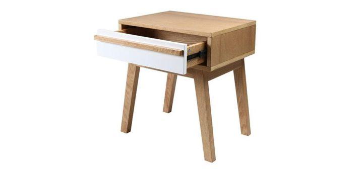 table de chevet nordique sofag. Black Bedroom Furniture Sets. Home Design Ideas